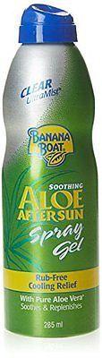 After Sun Skin Care: Banana Boat Ultramist Aloe After Sun Spray Gel, 8 Oz BUY IT NOW ONLY: $79.3