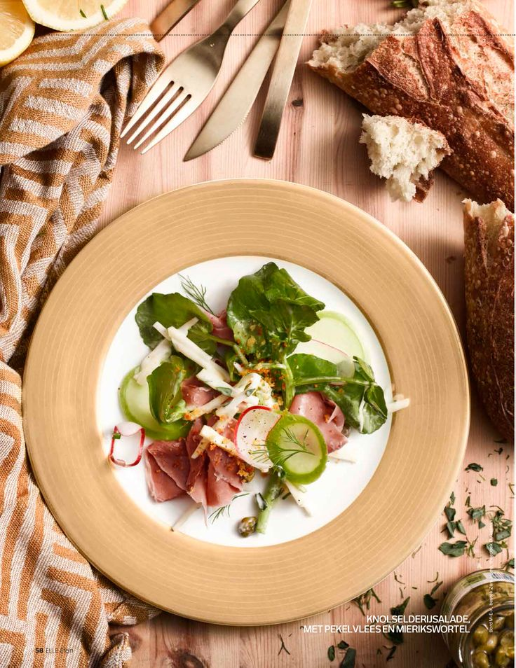 ELLE ETEN MAGAZINE (www.elleeten.nl) Last minute xmas menu: pickled meat - celeriac - radish - remoulade  PHOTOGRAPHY Carlfried Verwaayen  STYLING: Evelien Reich FOOD STYLING & RECIPE www.vanja.cc