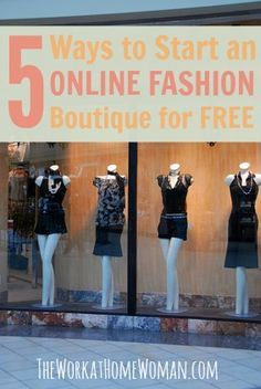 Do you want to have your own online fashion boutique, but you don't have any money to get started? This post will let you in on 5 fabulous and FREE fashion opportunities that you can do from home. via The Work at Home Woman