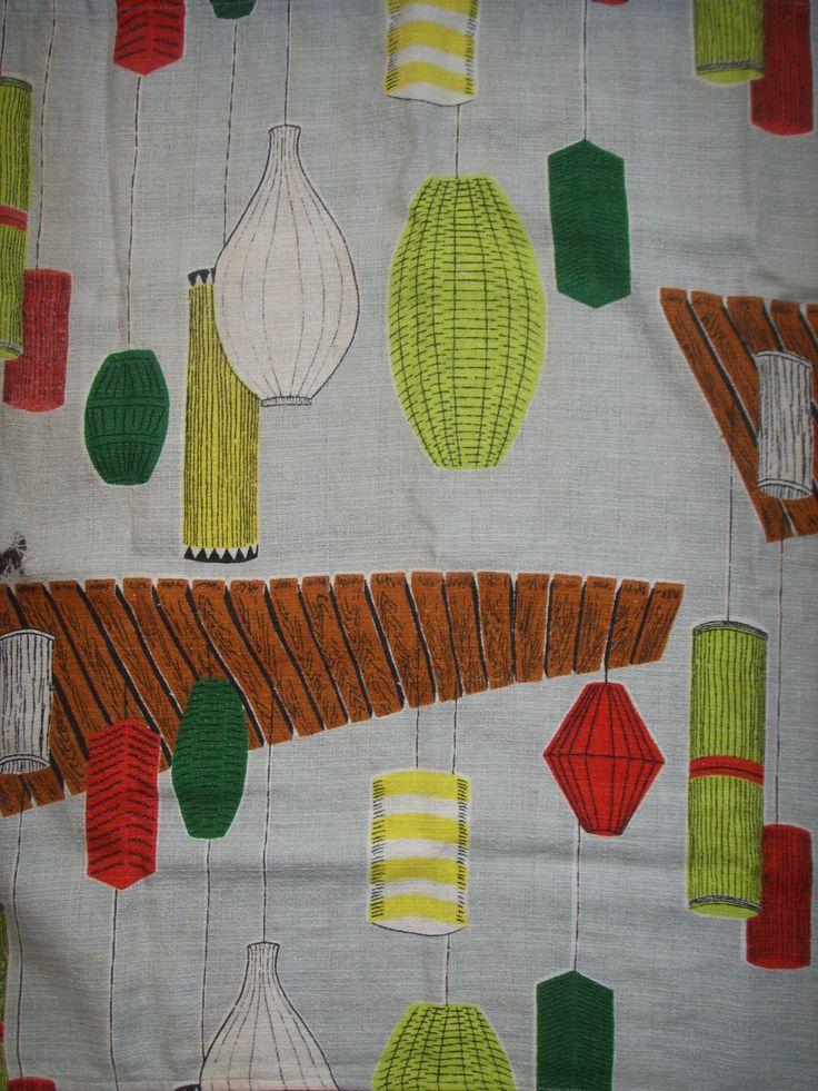 Pre-reno. Original bark-cloth curtain. Unfortunately last one.