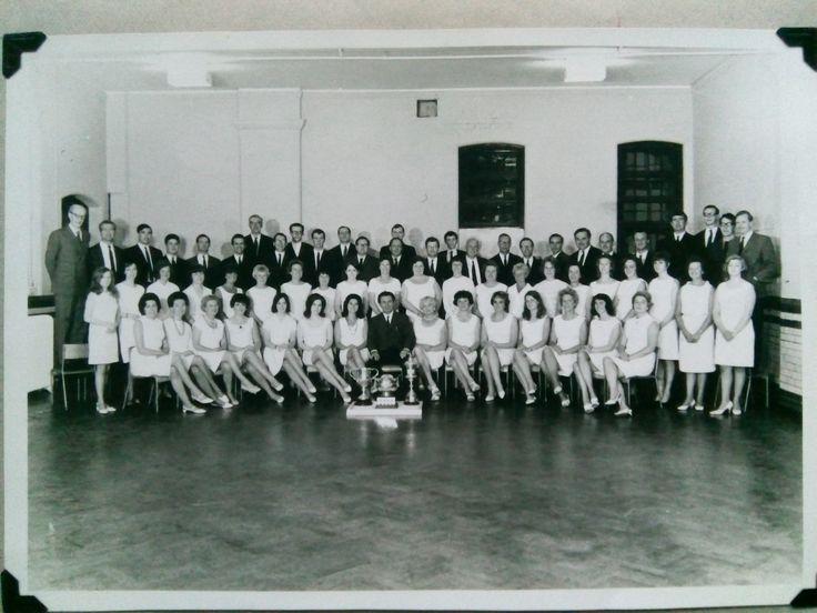 1967. Ivor Evans Singers taken inside the school hall used for practice
