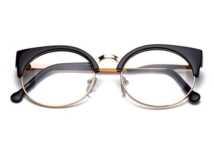 Женская мода Марка Дизайнер кошачий Глаз Очки Полукадра Cat Eye Очки Женщин Очки Кадры Высокого качества Грау F15010 купить на AliExpress
