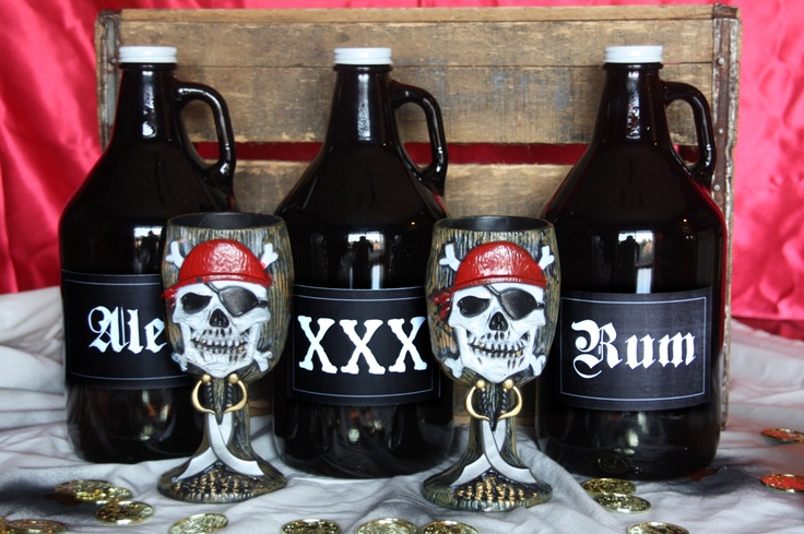 Pirate Party Food and Drink ideas! (Label designs included when you order the murder mystery party!)