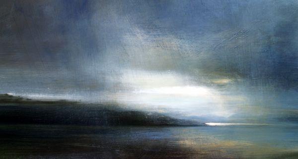 Mull Evening - Oil on Board - Zarina Stewart-Clark, Landscape Artist