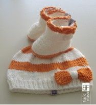 Baby boots & knitting hat