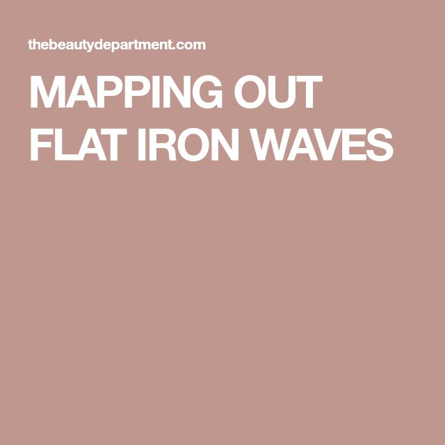 MAPPING OUT FLAT IRON WAVES