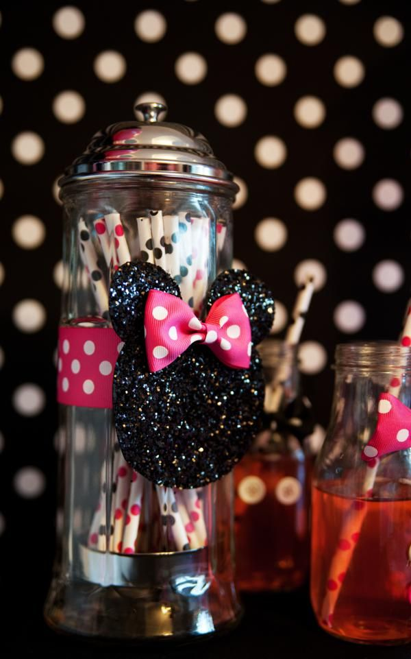 minnie mouse straw holders for milkshakes