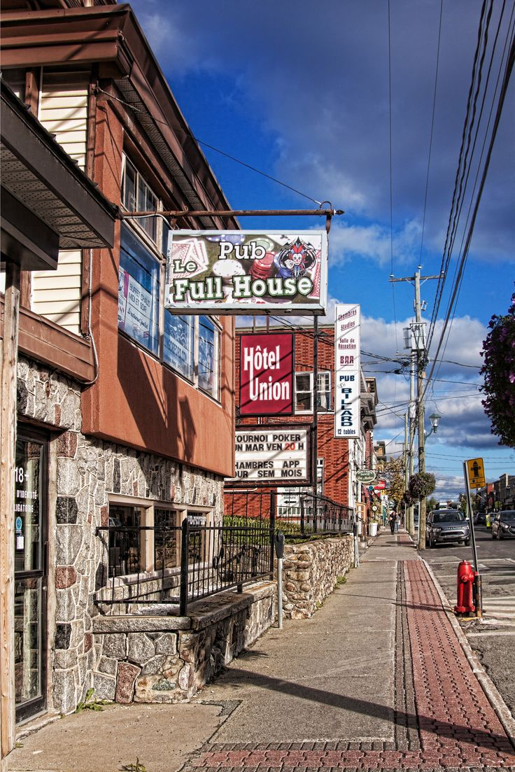 Main street Magog Quebec, Canada