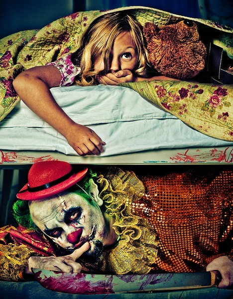 Child's Nightmare - Evil Clown by Maria Pavlova one's nightmare is one's reality
