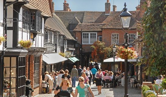 The Lion and Lamb Yard in Farnham town centre.