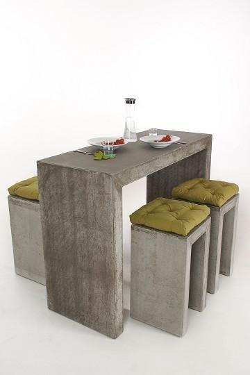 Sitzgruppe BARTOP 150 - stylisch in Faserbeton