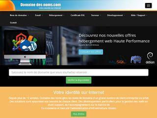 Achetez sur cette plateforme un nom de domaine pour votre site web. Un nom de domaine acheté équivaut à un nom de domaine gratuit de gagné.