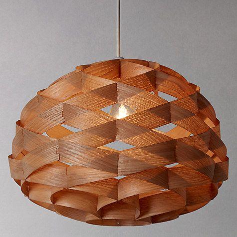 Buy John Lewis Alvin Easy-to-Fit Wood Veneer Ceiling Light Online at johnlewis.com
