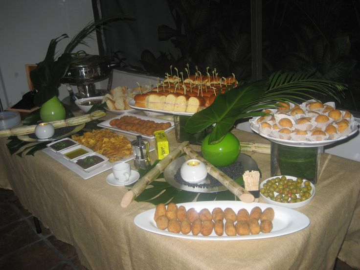 tropical party food table - Google Search