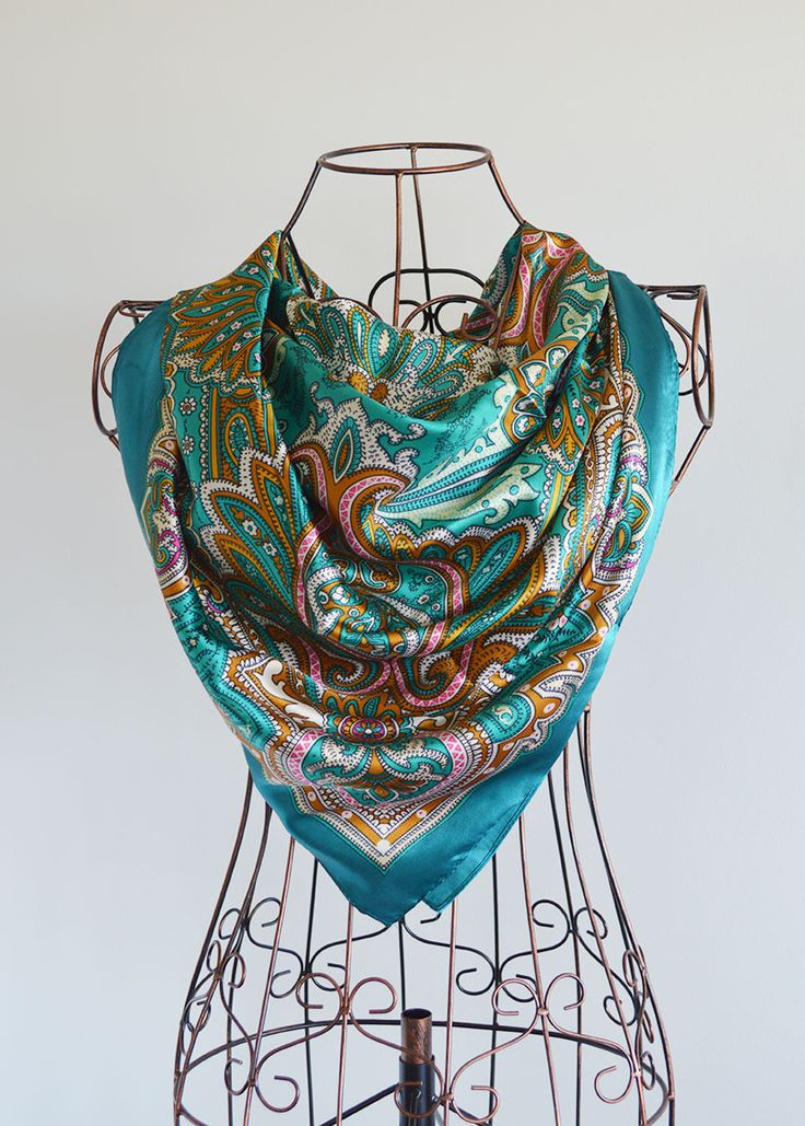 The Satin Square Scarf