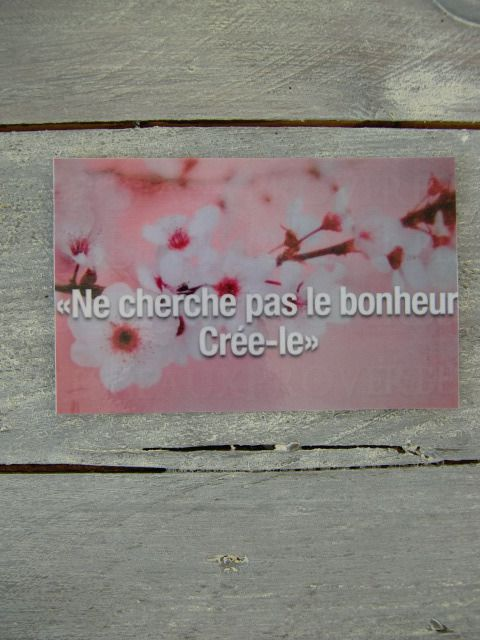 Carte citation sur le bonheur ( magnet) : Accessoires de maison par lalouchic