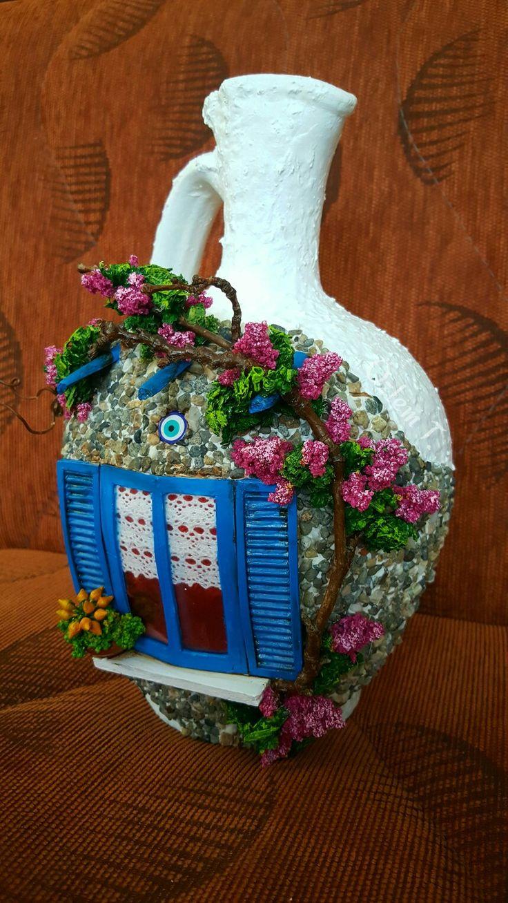 By Özlem T. #bodrum #testi #handmade #begonville #blue #mavi #beyaz #elisi #relief