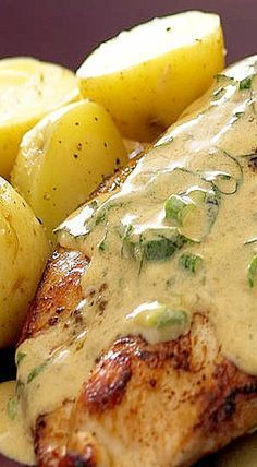 Chicken Breast with Basil Wine Sauce ❊