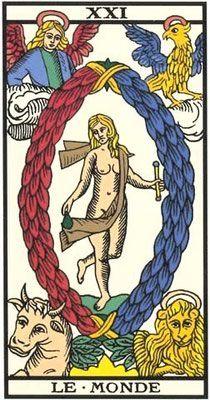 Interprétation de l'arcane du Monde dans le Tarot de Marseille - Apprendre le Tarot de Marseille, le Tarot Divinatoire