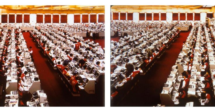 Andreas Gursky, Hong Kong Stock Exchange, Diptychon (Hong Kong Stock Exchange, Diptych), 1994