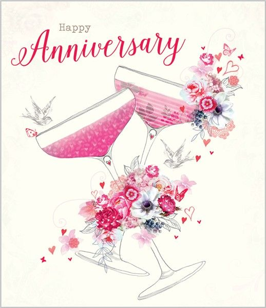 142 best Happy Anniversary!! images on Pinterest Happy - free printable anniversary cards
