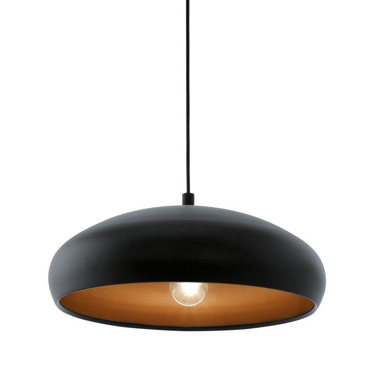 Lápara de diseño de estilo minimalista, fabricado en acero lacado negro por fuera y cobre por dentro. Una combinación de rabiosa actualidad que encaja a la perfección con estilos nórdicos, urbanos y contemporáneos.