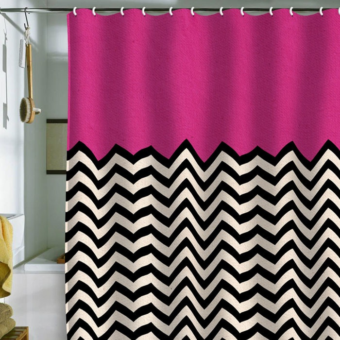 Chevron Shower Curtain In Pink By DENY Designs 17 Best Images About On  Pinterest Fields Red Home Design Plan.