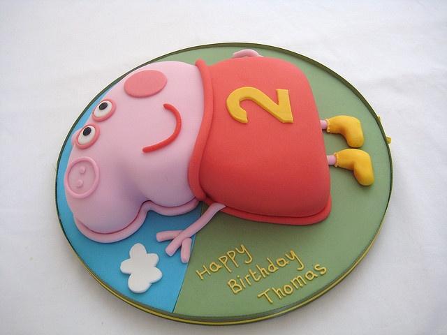 Peppa Pig Chocolate cake by ejcorns, via Flickr