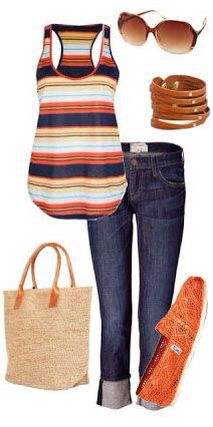 Love the colors, stripes, and style of this shirt