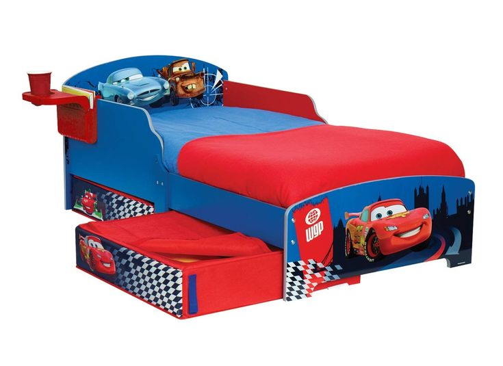 Disney Cars Lightning Mcqueen Wooden Bed For Toddlers