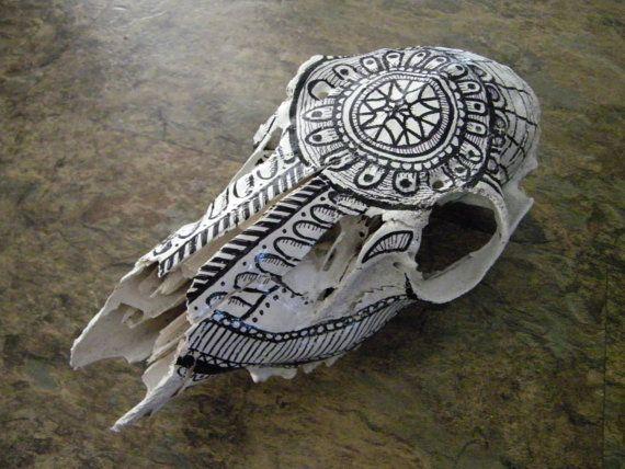 painted deer skull zentangle deer skull drawing on by chantellenay