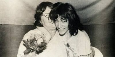 Patti Smith with her mother