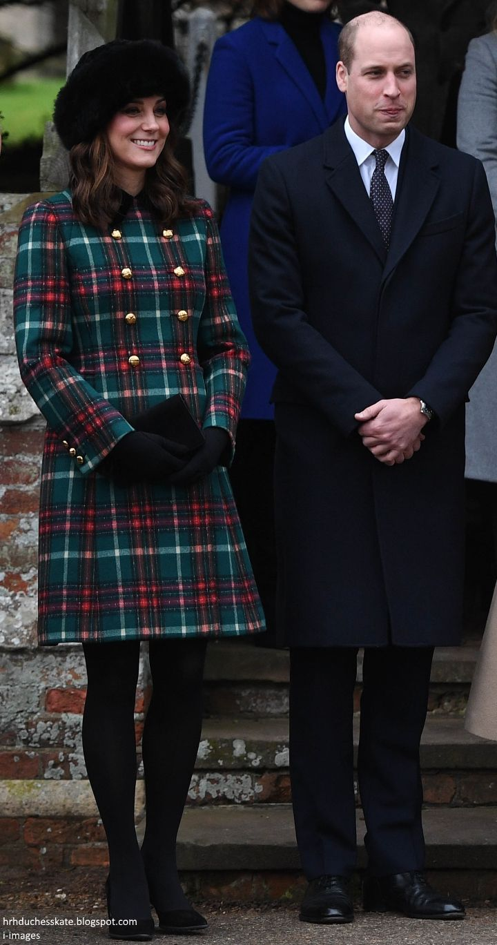 hrhduchesskate: Christmas Day Service, St. Mary Magdalene, December 25, 2017-Duke and Duchess of Cambridge