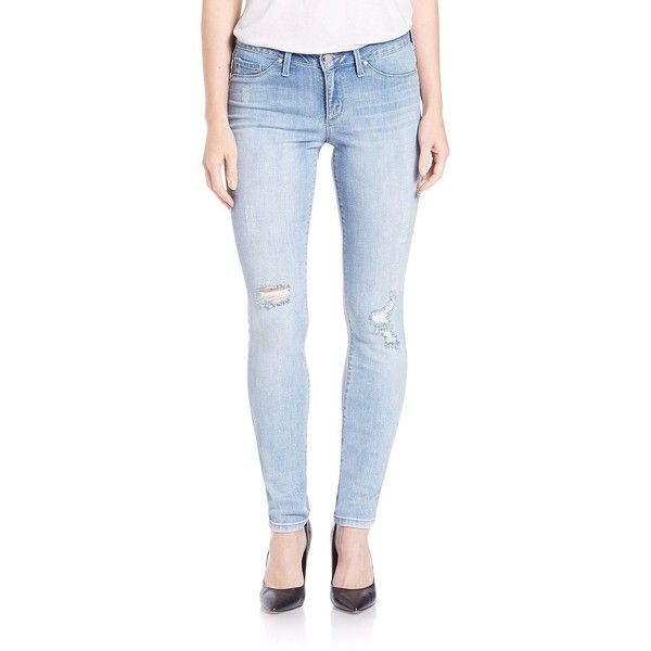 Jessica Simpson Kiss Me Super Skinny Jeans ($26) ❤ liked on Polyvore featuring jeans, blue caladium, blue jeans, skinny fit denim jeans, skinny fit jeans, zipper jeans and 5 pocket jeans