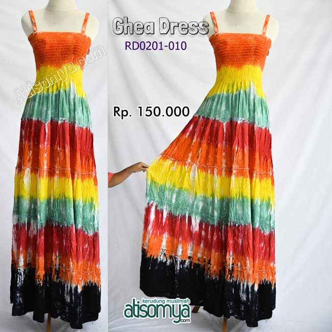 Maxi Dress Sleeveless in Tiedye in Sunset Color. Beatiful and elegance by http://atisomya.com/