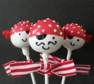 you can make these cake pops or even use marshmallows and dip them in red colore
