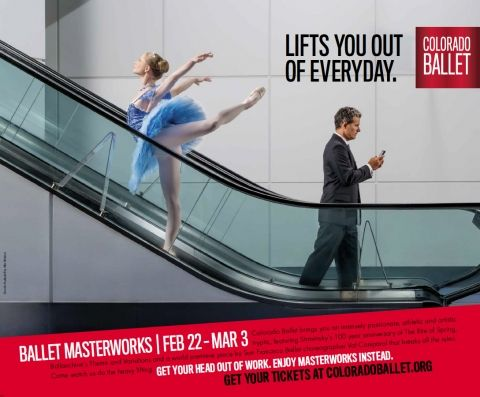 Colorado Ballet Lifts You Out of Everyday – A New Campaign from Denver's Launch Advertising - The Denver Egotist