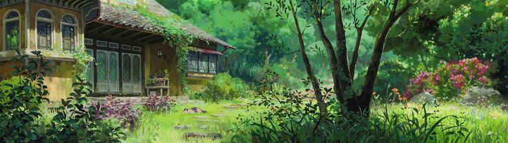 Ghibli 3840 x 1080, some backgrounds from Ghibli films