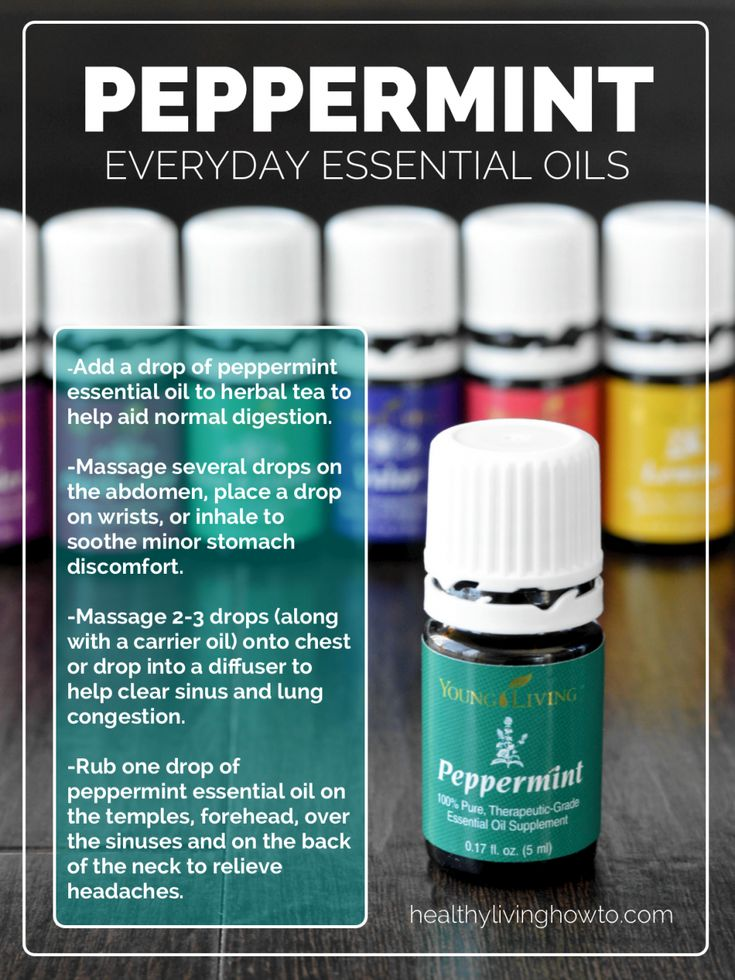 WIN A 5mL Bottle of Young Living Everyday Essential Oil: Peppermint | healthylivinghowto.com