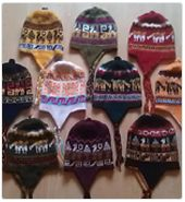 Wonderful fair trade Bolvian Alpaca reversible ski hats