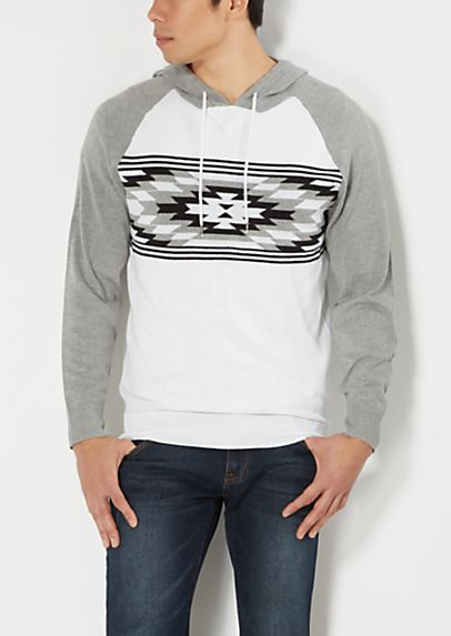Southwestern Raglan Sweater Hoodie | rue21