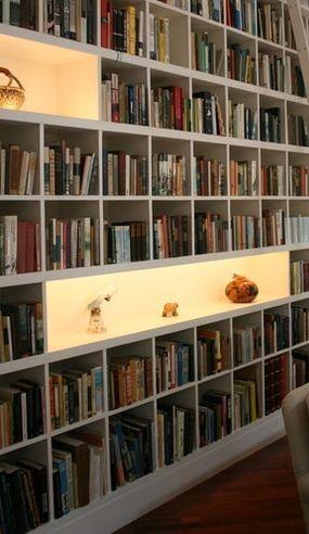 Lighting in bookshelves