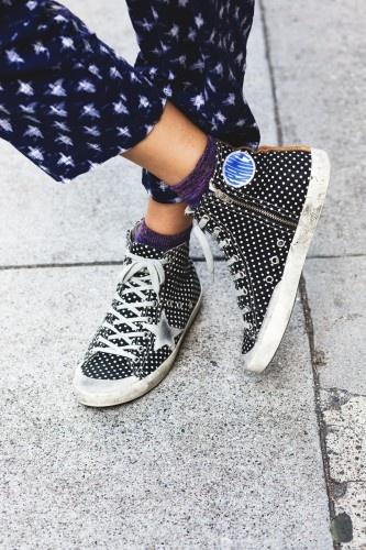 Rebecca's golden goose sneakers!!