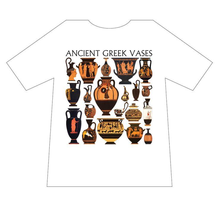 Greek culture T-shirt, ancient greek vases, T-logos, Ancient Greece, T-shirts, mediterraneo editions, www.mediterraneo.gr