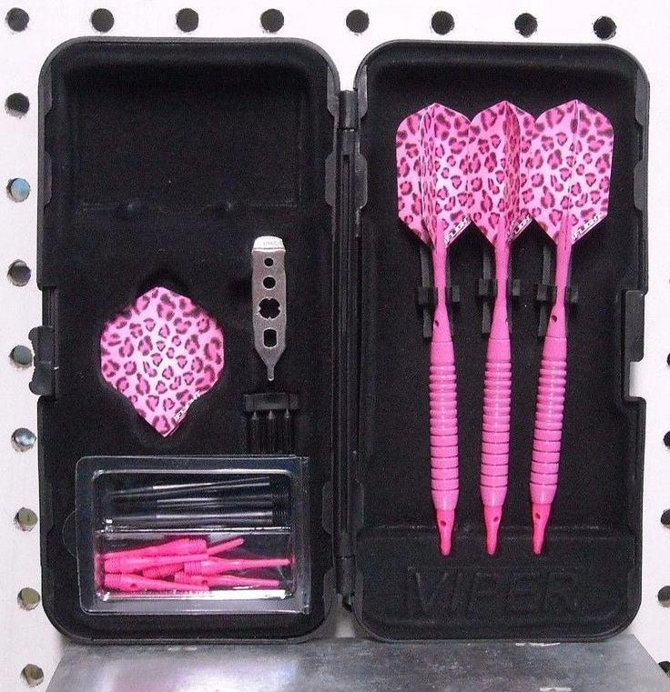 Darts 18 GM Neon Pink Cheetah Flights Soft Tip Dart Set with 25 Short Tips | eBay