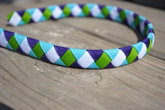 Woven ribbon headband :)