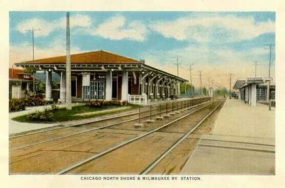 """North Shore train station...later to become a restaurant"""" Spagetti Station """"then a Headstart School....."""