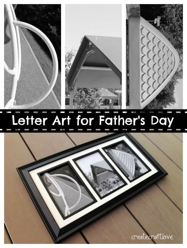 Create your own Letter Art for Father's Day!  Free pics available to print at createcraftlove.com!