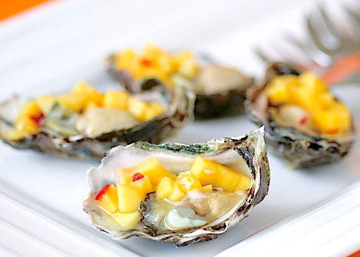 Ostriche con salsa di mango--Australia-