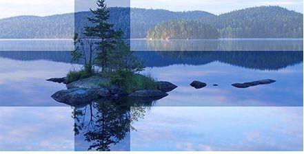 Sinivalkoinen Suomi ja sen luonto. Finnish blue and white nature.